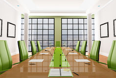 Green meeting room Stock Photography