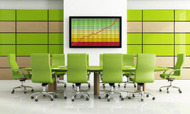Green meeting room Stock Images