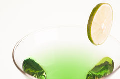 Green Melon Martini close up Royalty Free Stock Photos