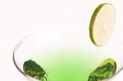 Green Melon Martini close up Royalty Free Stock Photos