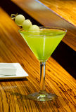 Green Melon Martini Cocktail Royalty Free Stock Photo