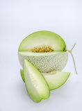 Green melon on white Royalty Free Stock Image