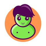 Green Men Icon Vector Royalty Free Stock Photo
