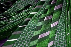 Green men's ties Stock Photo