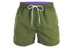 Green men shorts for swimming Stock Images