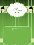 Green menu vector illustration