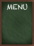 Green Menu blackboard. With empty space Royalty Free Stock Image