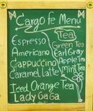 Green menu blackboard Stock Photography