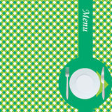 Green menu card Royalty Free Stock Photo