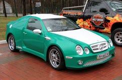 Green Mercedes-Benz E-class Royalty Free Stock Photo