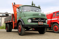Green Mercedes-Benz 1413 Tipper Truck stock image