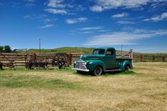 Green Mercury Truck, Bar U Ranch, Longview, Alberta July 24, 2011. Green Mercury Truck, Bar U Ranch, Longview, Alberta royalty free stock photography