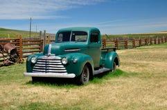 Green Mercury Truck, Bar U Ranch, Longview, Alberta July 24, 2011. Green Mercury Truck on Farm royalty free stock photography