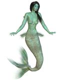 Green Mermaid Stock Image