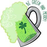 Green and Merry Stock Photo