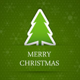 Green merry christmas background with fir tree. Royalty Free Stock Image