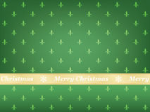 Green Merry Christmas background Stock Photography
