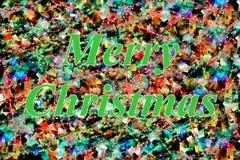 Green Merry Christmas Royalty Free Stock Photo