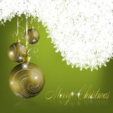 Green merry christmas greeting card Stock Photos