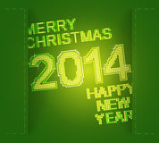 Green merry christmas and new year Stock Image