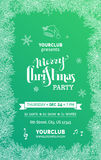 Green Merry Christmas Party template. Stock Photo