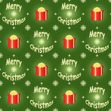Green Merry Christmas pattern Stock Images