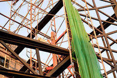 Green Mesh Construction Stock Images