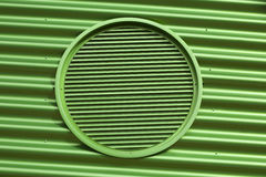 Green metal air vent Royalty Free Stock Images