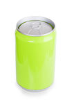 Green metal aluminum beverage drink can Royalty Free Stock Image