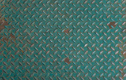 Green Metal anti slip metal floor texture. Stock Photography