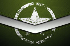 Green metal army background with white damaged military star grunge texture Stock Photos
