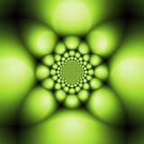 Green metal balls. Metal balls matrix pattern Stock Photography