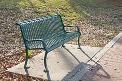 Green metal bench Royalty Free Stock Image