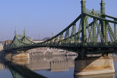 Green Metal Bridge Stock Images