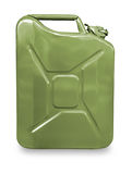 Green metal canister for gasoline Royalty Free Stock Photos