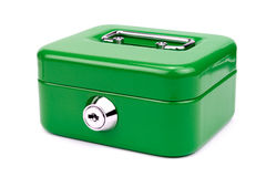 Green metal cash box Royalty Free Stock Photography
