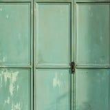 Green metal door background Royalty Free Stock Image