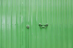 Green metal door Stock Photos