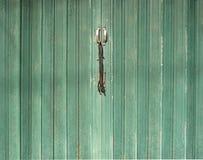 Green metal door gate. Stock Images