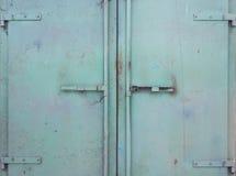 Green Metal Doors stock photos