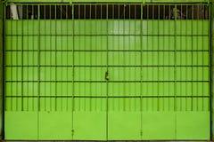 Green Metal Folding Gate Stock Photography