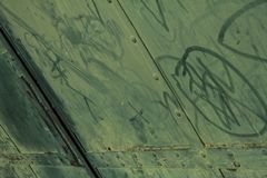 Green metal gate stock images