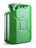 Green metal jerry can Royalty Free Stock Photo