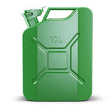 Green metal jerry can Stock Photo