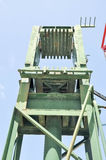 Green Metal Lift System Stock Image