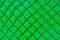 Green metal reconditioned fence Royalty Free Stock Images