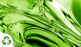 Green metal recycling design Royalty Free Stock Images