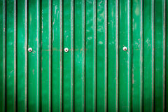 Green metal sheet with bolt Royalty Free Stock Photos