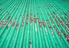 Green metal sheet. Stock Images