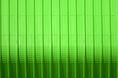 Green metal sheet pattern and vertical line design. Metal sheet pattern and vertical line design on surface abstract aluminum architecture background blank royalty free stock photos